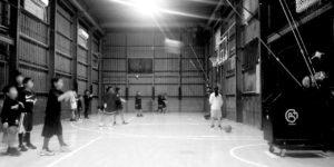高槻のバスケットボールスクールTCBA練習コートシューティングハウス