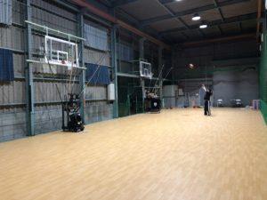 高槻のバスケットボールスクールTCBA練習場シューティングハウス