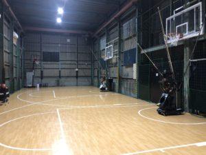 高槻のバスケットボールコートShooting Houseコート写真